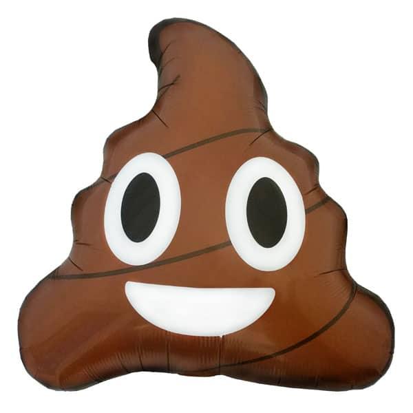Emoji Poop Foil Helium Balloon 61cm / 24Inch