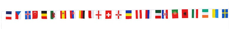 Euro 2016 Bunting - 24 Flags