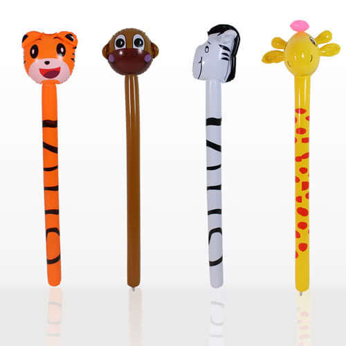 Inflatable Jungle Animals Stick 118cm Assorted Designs