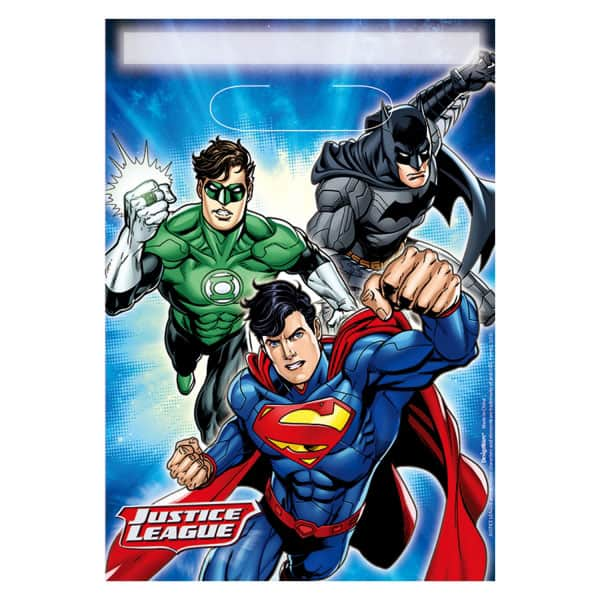 Justice League Loot Bags - Pack of 8