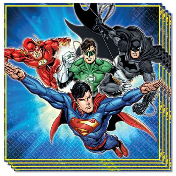 Justice League Luncheon Napkin - 2 Ply - 33cm - Pack of 16