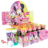 Minnie Mouse Bottle Bubbles – 60ml – Pack of 36