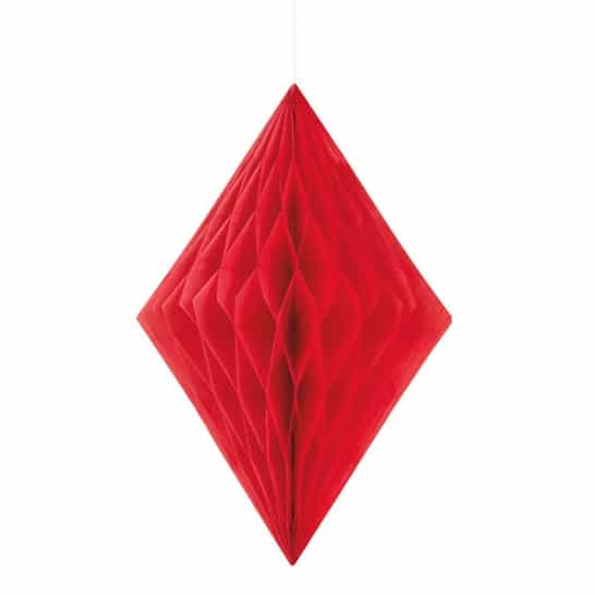 Red Diamond Honeycomb Hanging Decoration 35cm Product Image