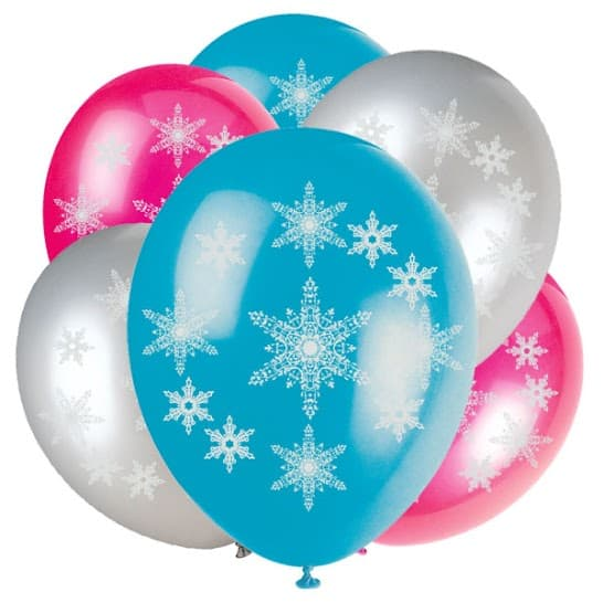 Snowflakes Latex Balloons - 30cm - Pack of 6 Product Image