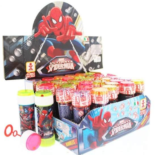 Spiderman Bottle Bubbles - 60ml - Pack of 36