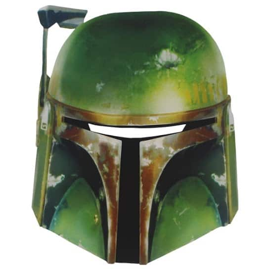 Star Wars Boba Fett Cardboard Face Mask Product Image