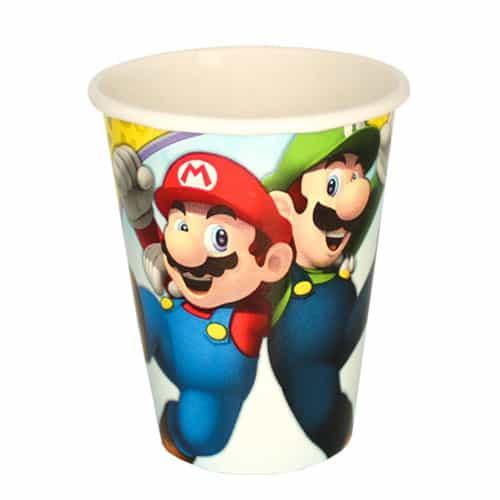 Super Mario Paper Cups 266ml - Pack of 8