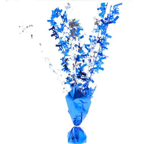 Blue Glitz Happy 1st Birthday Centrepiece