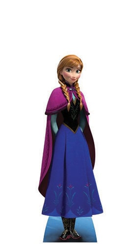 Disney Frozen Anna Mini Cardboard Cutout - 96cm