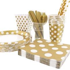 Gold Decorative Dots Party Supplies