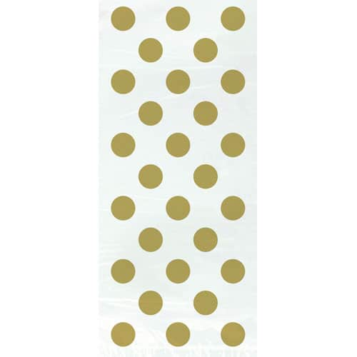 Gold Decorative Dots Gift Bags - Pack of 20