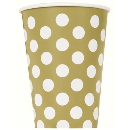 Gold Decorative Dots Paper Cup - Single 355ml