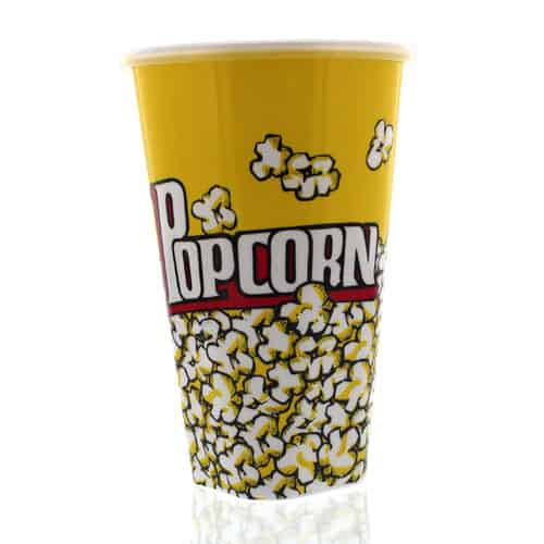 Plastic Popcorn Container With Lid - 17cm