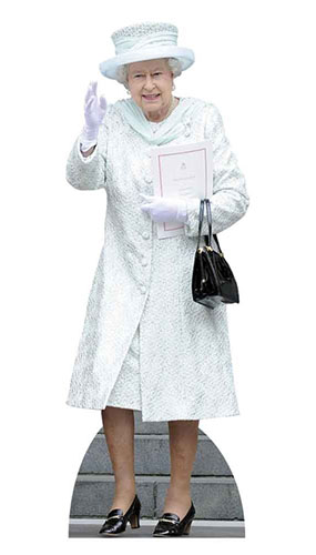Queen In White Coat Lifesize Cardboard Cutout - 171cm