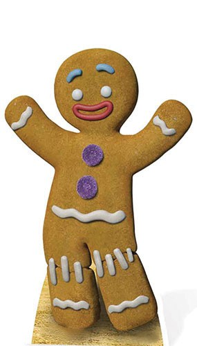 Shrek Gingy Cardboard Cutout - 75cm Product Image