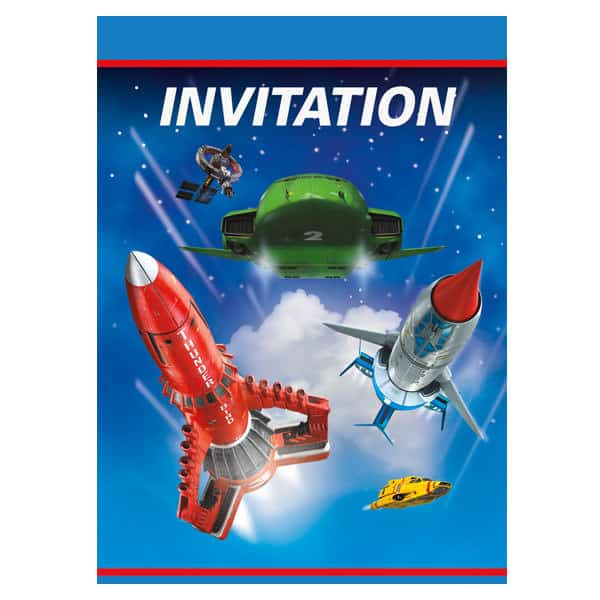 Thunderbirds Invitations With Envelopes - Pack of 8
