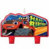 Blaze Happy Birthday Candles – Pack of 4