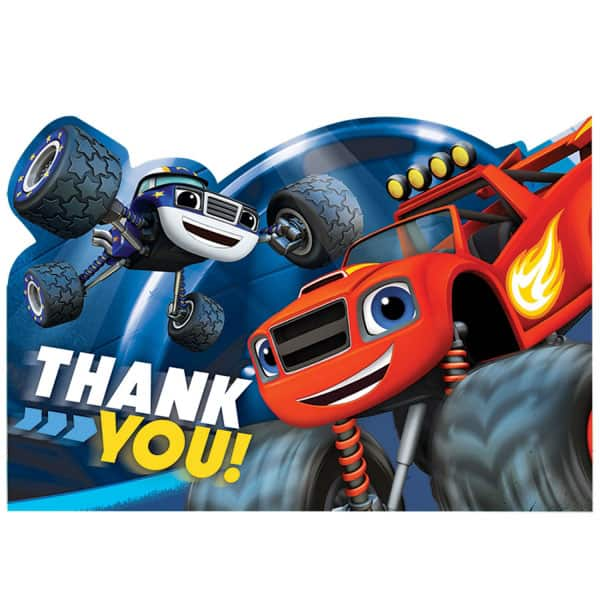 Blaze Thank You Cards With Envelopes - Pack of 8
