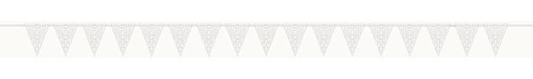 Die Cut Lace Paper Flag Banner - 332cm