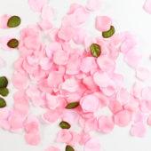 Light Pink Fabric Rose Petals