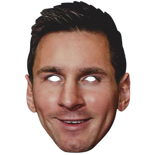 lionel messi cardboard face mask product image - Wedding Dress Warehouse