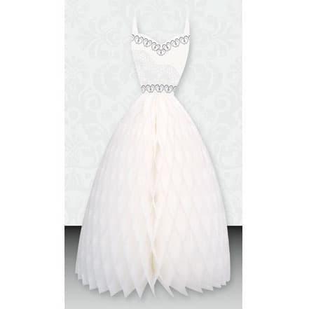 Wedding Dress Honeycomb Centrepiece - 25cm