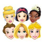 Assorted Disney Princess Masks  Pack of 6