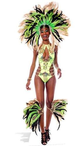 Mardi-Gras Brazilian Babe Lifesize Cardboard Cutout - 193cm Product Gallery Image