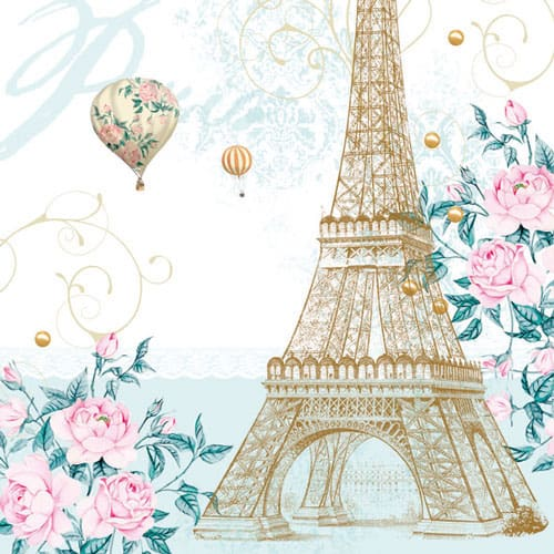 Paris Luncheon Napkins 3 Ply - 33cm - Pack of 20 Product Image
