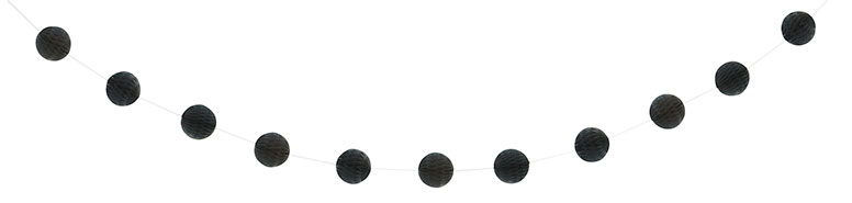 Black Honeycomb Ball Garland - 213cm