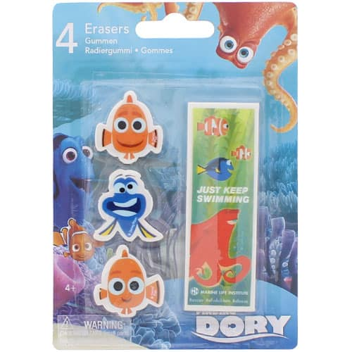 Finding Dory Erasers - Pack of 4