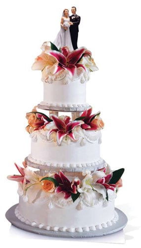 Glamorous Wedding Cake Cardboard Cutout - 180cm Product Gallery Image