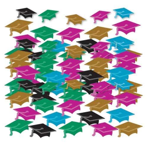 Graduate Hats Multi Colour Confetti 14g