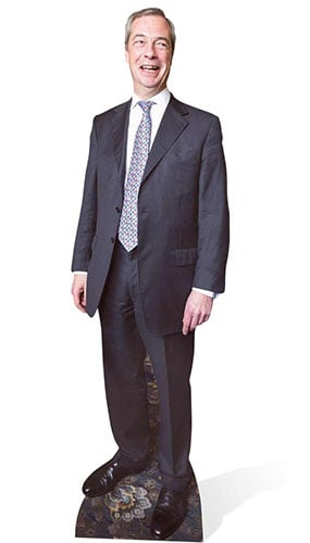 Nigel Farage Lifesize Cardboard Cutout - 181cm Product Gallery Image