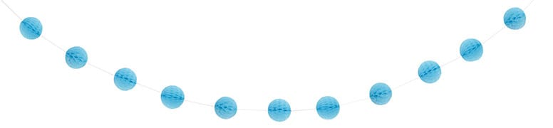 Powder Blue Honeycomb Ball Garland – 213cm