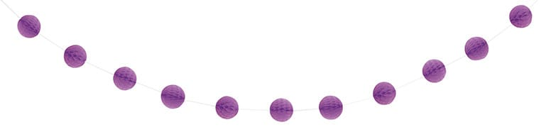 Purple Honeycomb Ball Garland – 213cm