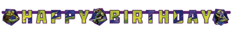 Teenage Mutant Ninja Turtles Happy Birthday Letter Banner - 180cm