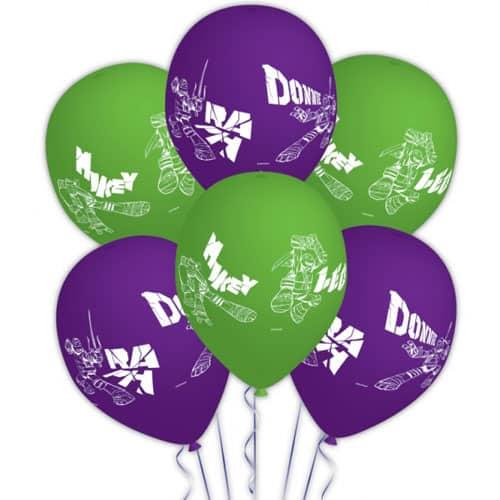 Teenage Mutant Ninja Turtles Latex Balloons - Pack of 6