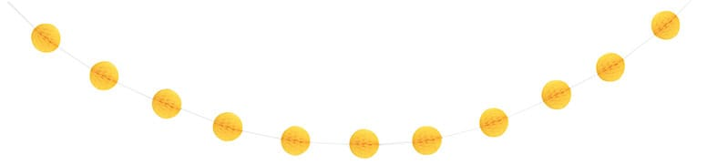Yellow Honeycomb Ball Garland – 213cm