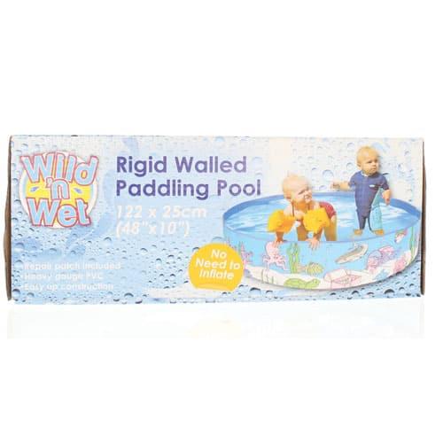 Childrens rigid paddling pool 122cm partyrama for Piscine enfant rigide