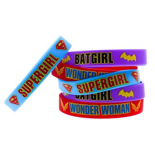 DC Super Hero Girls Rubber Bracelets - Pack of 6