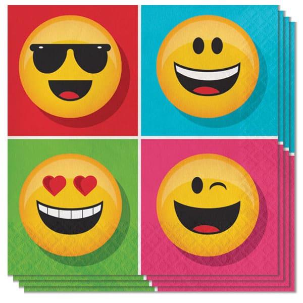 Emoji Designs Napkins 2 Ply - 33cm - Pack of 16
