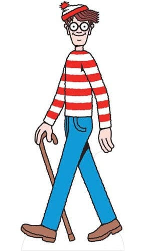 Wheres Wally Lifesize Cardboard Cutout - 181cm Product Gallery Image