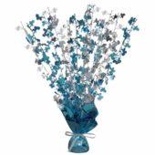 Blue Glitz Baby Shower Balloon Weight Centrepiece