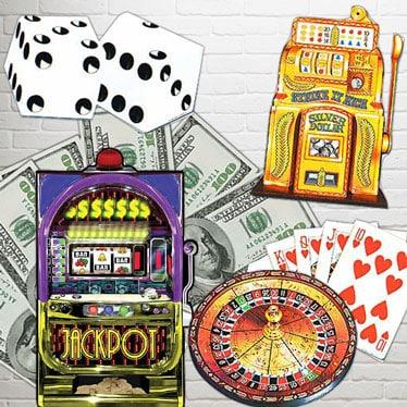 Casino Theme Cutouts