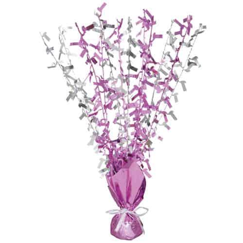Pink Glitz Age 1 Birthday Balloon Weight Centrepiece