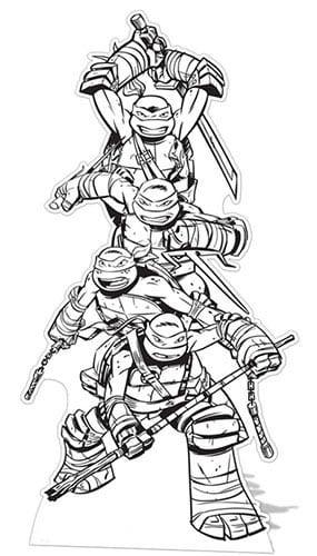 Teenage Mutant Ninja Turtles Colour-In Lifesize Cardboard Cutout - 185 cm Product Gallery Image