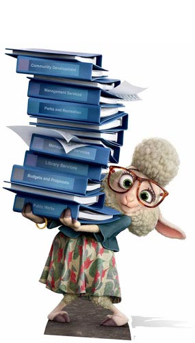Zootropolis Bellwether Assistant Mayor Cardboard Cutout - 87cm Product Gallery Image