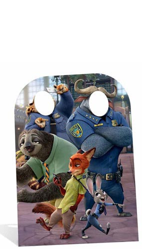 Zootropolis Child Size Stand In Lifesize Cardboard Cutout - 130cm