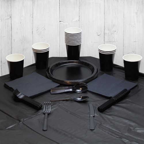 Black 18 Person Party Pack